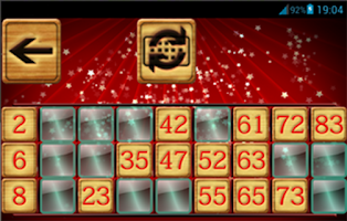 Screenshot of Bingo Christmas