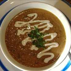 Black Bean Soup With Cilantro Cream