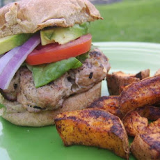 Southwestern Turkey Burgers With Sweet Potato Fries