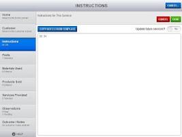 Screenshot of ServSuite Mobile Tablet
