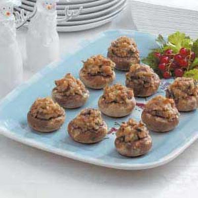Nutty Stuffed Mushrooms