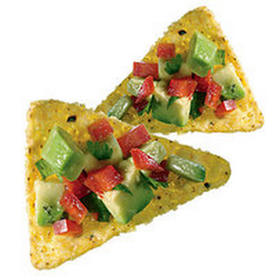 Salsa-Topped Tortilla Chips