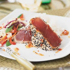 Sesame-crusted Tuna with Teriyaki Stir-Fry