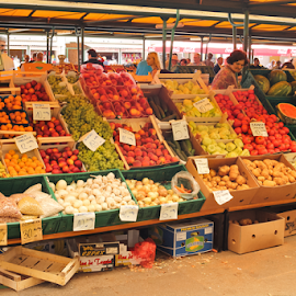 City market by Oliver Švob - City,  Street & Park  Markets & Shops ( canon, europe, cuty market, market, karlovac, street, fruits, croatia, vegetables, fruits and vegetables, town )