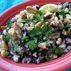 Wild Rice and Walnut Pilaf