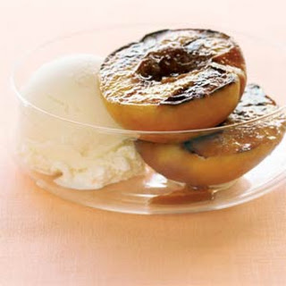 Grilled Peach Dessert Vanilla Ice Cream Recipes