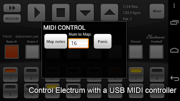 Screenshot of Electrum Drum Machine/Sampler