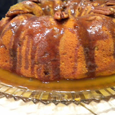 Sweet Potato Buttermilk Bundt Cake with Brown Sugar Bourbon Glaze