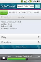 Screenshot of CallerTunes®