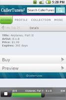 Screenshot of CallerTunes®