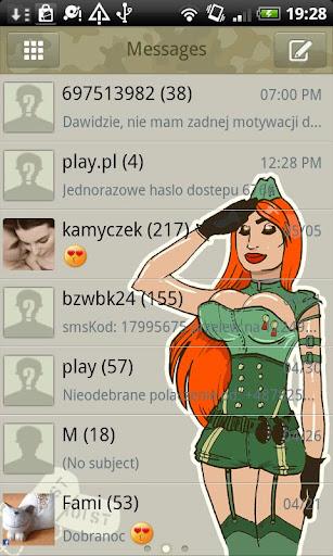 GO SMS Army Theme Free