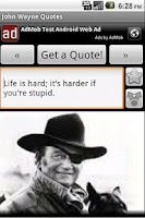 Screenshot of John Wayne Quotes