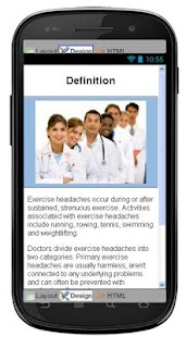 Exercise Headaches Information - screenshot