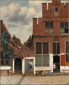 RIJKS: Johannes Vermeer: View of Houses in Delft, Known as 'The Little Street' 1658