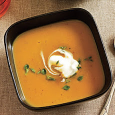 Roasted Chestnut Soup with Thyme Cream