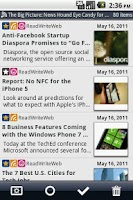 Screenshot of Daily Reader (Google Reader)