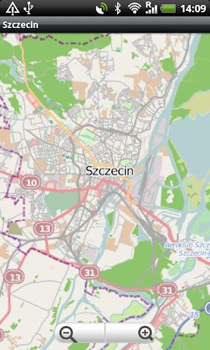 Szczecin Street Map