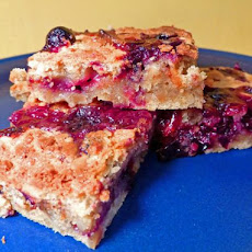 Spicy White Chocolate-Blueberry Brownies