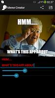 Screenshot of MemeCreator Free