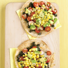 Black-Bean Tostadas with Corn Relish