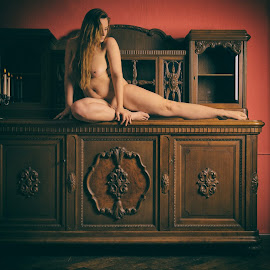Furniture by Tomas Fensterseifer - Nudes & Boudoir Artistic Nude ( art nude, cupboard, nude, lost places )