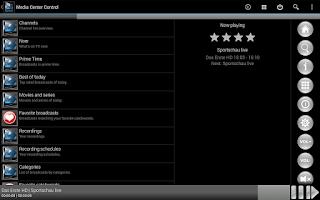 Screenshot of Media Center Control