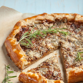 Caramelized Onion and Bayley Hazen Blue Galette