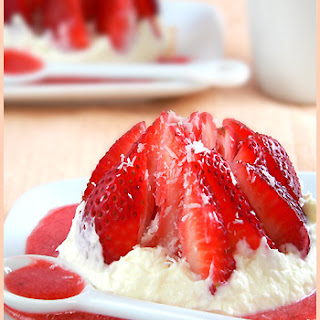 Strawberry Love Dessert and its Coconut Cream