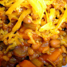 Spicy Tomato and Bean Barley Bake (Low Fat and Healthy)