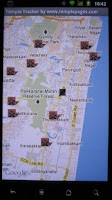 Screenshot of Hindu Temple Tracker