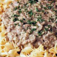 Hamburger Stroganoff With Cream of Chicken Soup