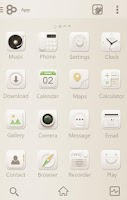 Screenshot of Soft Cream GO Launcher Theme