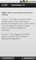 Screenshot of US Amendments