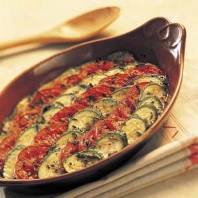 Baked Tomatoes and Zucchini