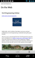 Screenshot of Civil Engineering Magazine