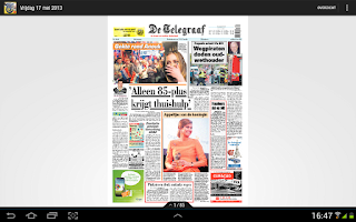 Screenshot of De Telegraaf Krant
