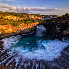 Holy Cave by Nyoman Sundra - Landscapes Caves & Formations ( bali, sunset, caves, beach, landscape )