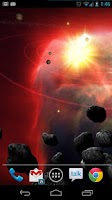 Screenshot of Asteroid Belt Free L Wallpaper