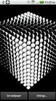 Screenshot of Ball Cube 3D Live Wallpaper