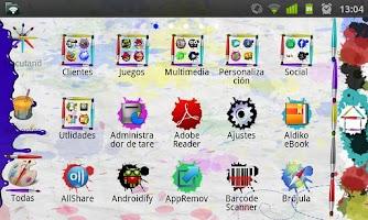 Screenshot of GO Launcher EX Paint Theme