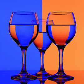 Blue & Orange by Rakesh Syal - Artistic Objects Still Life ( blue, orange. color,  )
