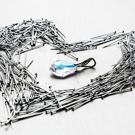Heart by Zuzanna Stelmaszek - Artistic Objects Other Objects ( heart, cold, jewellery, close up, conceptual,  )
