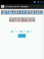 Screenshot of FACTORIZACION PRO