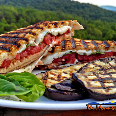 Grilled Mushroom Caprese Sandwiches On sourdough