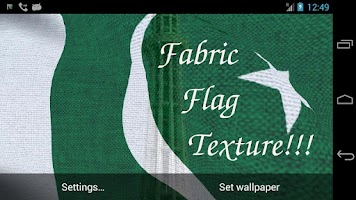 Screenshot of 3D Pakistan Flag LWP