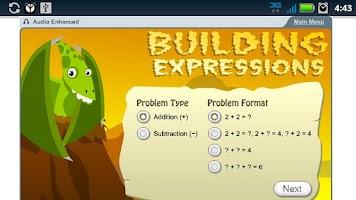 Screenshot of K12 Math Sampler