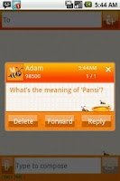 Screenshot of Easy SMS Honey Daisy theme