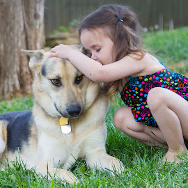 A girl and her dog. by Lyndsey Ogle - Babies & Children Toddlers (  )