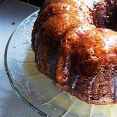 Apple Harvest Pound Cake with Caramel Glaze