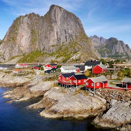 Lofoten, Norway by Petr Podroužek - Landscapes Mountains & Hills ( mountains, sky, sea, view, rocks, lofoten, norway )